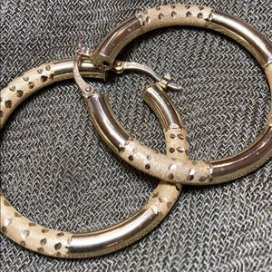 Jewelry - Brushed accent hoops